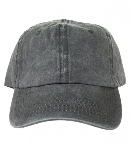 Charcoal Washed Dad Hat Baseball Cap Polo Style Unconstructed - CI12O0RVZBU