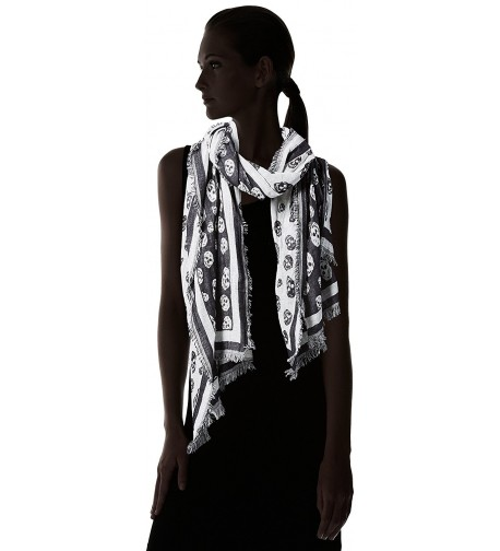 Collection XIIX Womens Skulls black in Fashion Scarves