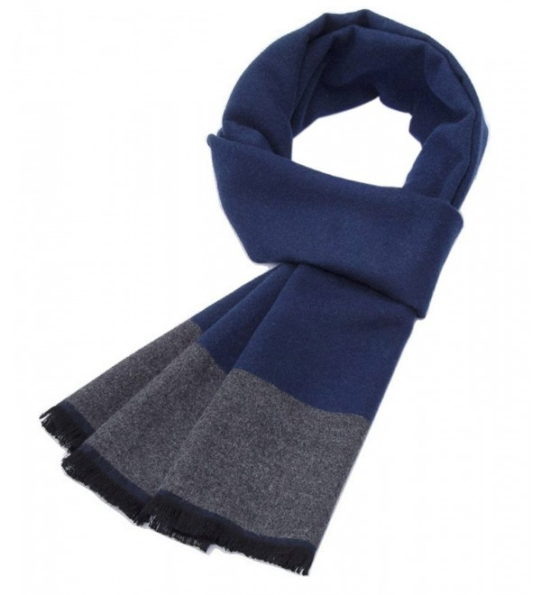 Autumn And Winter Simple Warm Long Scarves- Navy Blue And Gray - CO1872SAHT5