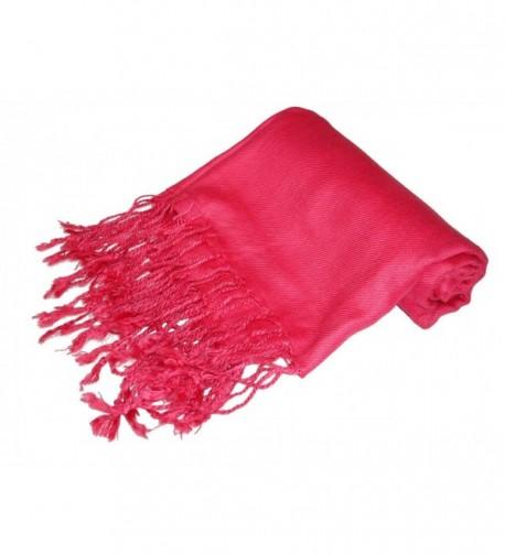 Kuldip Unisex Pashmina Scarf Shawl Wrap Throw Hot Pink - C21130YEMYZ