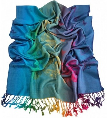 Turquoise Butterfly Pashmina CJ Apparel