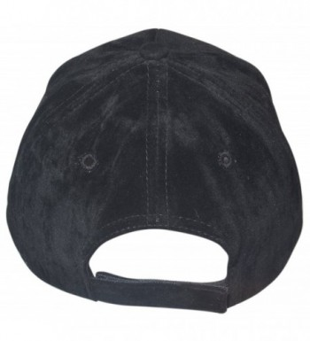 Faux Suede Baseball Structured Black