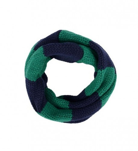 Joyci Hot Fashion Weave Knitting Double Color Unisex Loop Wraps Scarf - Green navy Blue - CN11QYY51LL