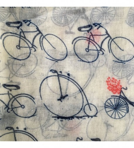 GERINLY Fashion Lightweight Scarves Bicycle in Fashion Scarves