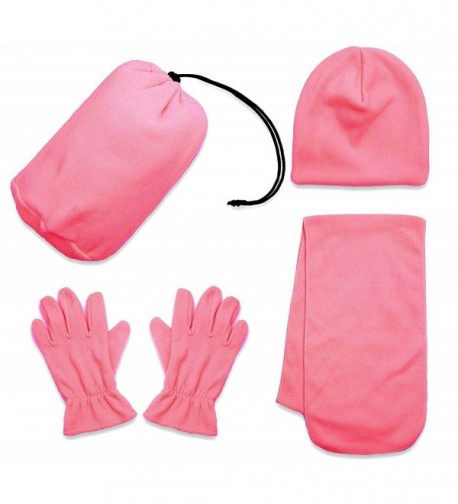 Simplicity Children & Adult Sized Winter Beanie- Scarf- & Gloves Set - 34_pink - CU12OBECQ5S