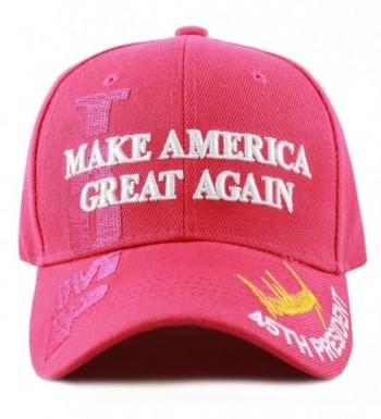 "The Hat Depot Exclusive 45th President Trump ""Make America Great Again"" 3D Cap - Hot Pink - CZ17YQ7CA44"