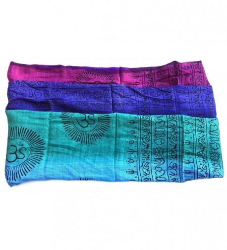 Large Mantra Printed Prayer Meditation in Fashion Scarves