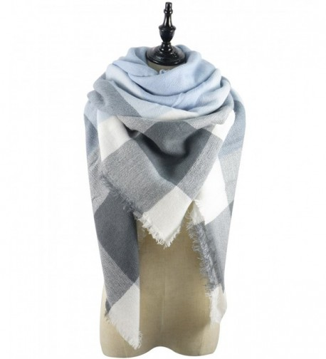 Durio Square Fashion Blanket Scarves - Light Grey - CF185U0N75R