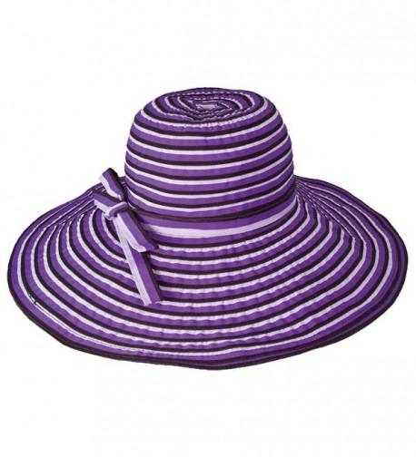 "hat.a.girl Packable Crushable Travel Hat 5.5"" Brim - HS239 - Purple - CD112HTCMTV"