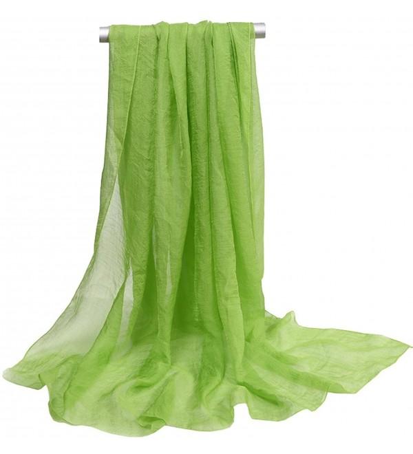 Ouye Women's Soft Chiffon Scarves - Grass Green - CC183YYSWTE