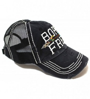 Black Born Free Vintage Trucker Hat - CK1848RMWT3