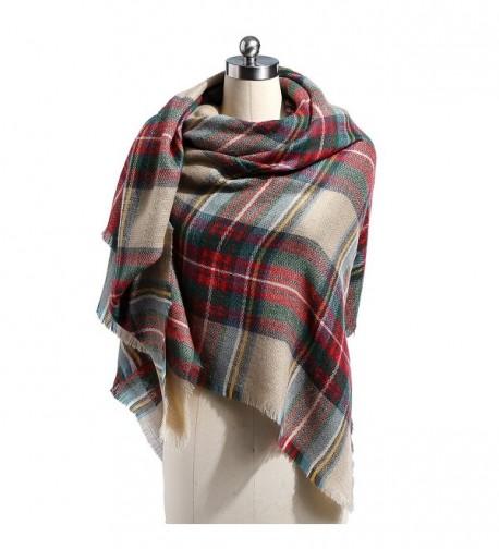 Blanket Cashmere Scarves Tassels Scarf 1