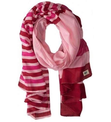 Life is good Women's Summer Stripes Scarf - Deco Pink - CN11MXHQHU7