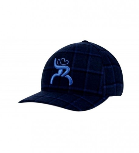 Hooey Slim Blue Plaid Flex Fit Structured Hat - 4312BKNV - CR1272SONIT
