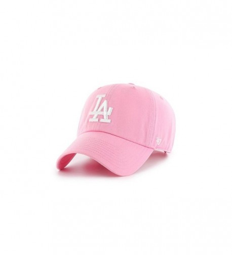 Los Angeles Dodgers Strapback Hat 47 Brand Pastel Clean Up Slouch Fit - Rose - CO17YLK8IE0