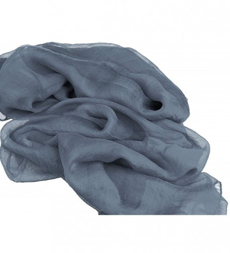 Scarf Women Chiffon Lightweight Color Gray in Fashion Scarves