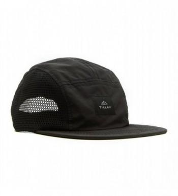 Tillak Wallowa Trail Hat- a Lightweight Nylon and Mesh 5 Panel Black Cap - CK1822T3MWO
