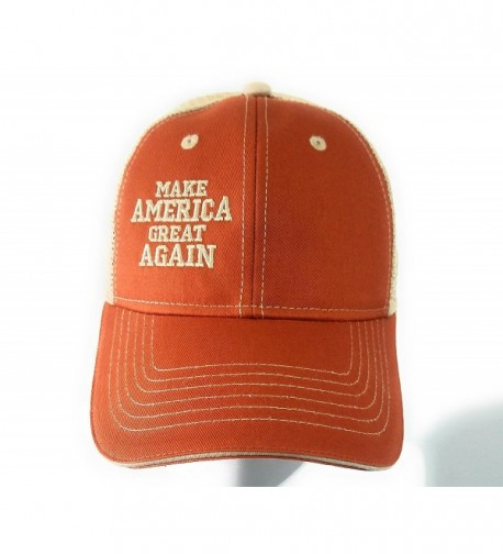 Make America Great Again Hat - Donald Trump Campaign Baseball Hat Variations - USA. - Adult - Orange.khaki.mesh - C5186SOY9H5