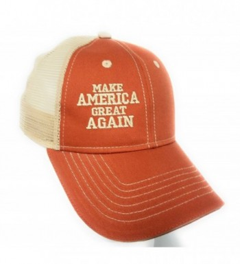 TRUCKER ORANGE KHAKI MESH MAGA