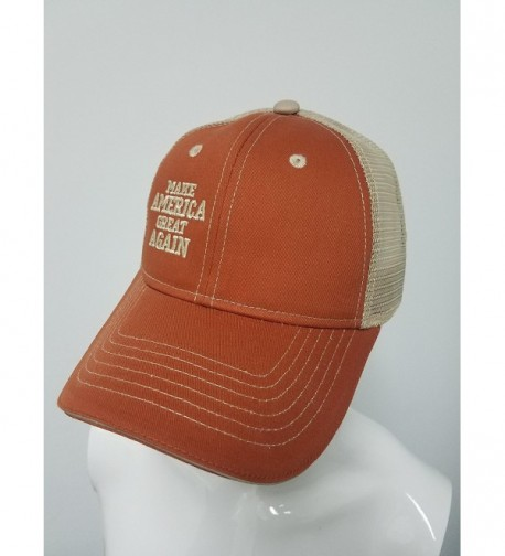 TRUCKER ORANGE KHAKI MESH MAGA in Women's Baseball Caps
