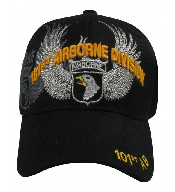 U.S. Warriors Men's101st Airborne Division with Spread Wings Baseball Cap - Black - CW11K2O4BF1