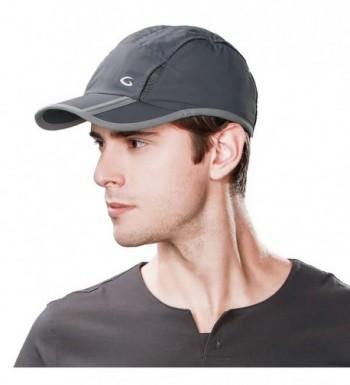 Mens UPF50 Quick-Dry Baseball Cap Foldable Brim Free-Size Sun Hat Unisex TOPEX - 89056_darkgray - C117Z6LCIS0