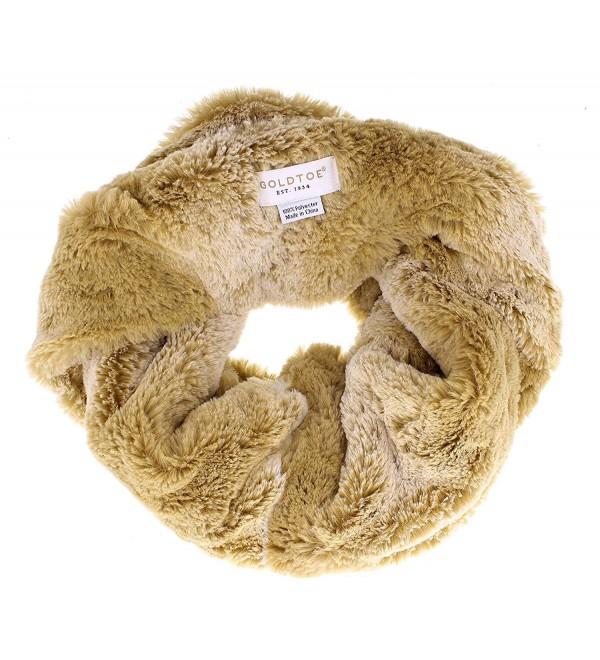 Gold Toe Women's Evanna Soft Faux Fur Circle Scarf - Tan - CE186U8N83E