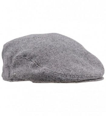 Sterkowski Wool Tweed Ivy League Flat Cap Newsboy Vintage Style - Light Grey/Green - CN11OFSB4WN