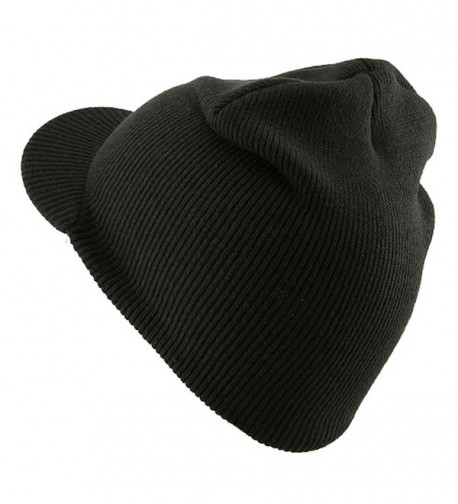 Cuffless Beanie Sports Visor Charcoal W31S21E