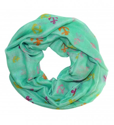 Peach Couture Infinity Scarves Rainbow