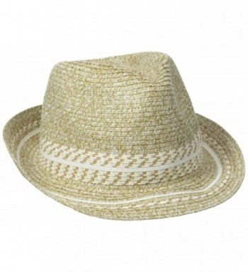 Collection XIIX Women's Tweeded Tribal Fedora Hat - Sandstone - CW127FULCQZ
