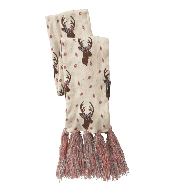 Legendary Whitetails Ladies Happy Glamper Floral Deer Scarf White - CR12MWW01DH