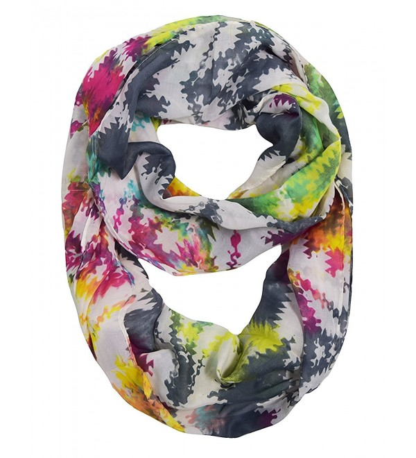Peach Couture Vintage Womens Bohemian Design Infinity Loop Scarves - Chevron Rainbow - C0188I3HXUC