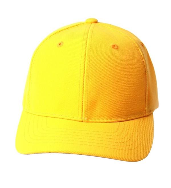 TopHeadwear Solid Yellow Adjustable Hat - CV111GX2Y8N