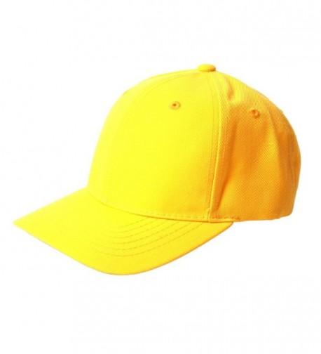 TopHeadwear Solid Yellow Adjustable Hat