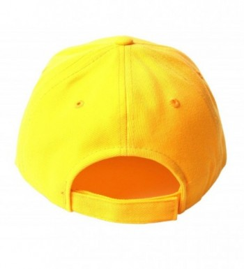 TopHeadwear Solid Yellow Adjustable Hat in Men's Baseball Caps