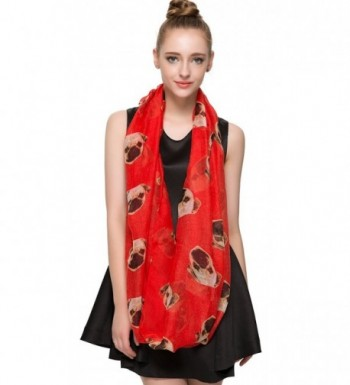 HUAN XUN Infinity Lightweight Red in Fashion Scarves
