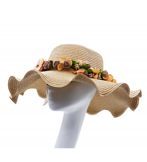 Vegali Summer Beach Sun Hat - Khaki - C712KHP4LZ9