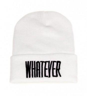 Binmer(TM)Men Women Beanie Cap Whatever Warm Winter Knit Skull Slouchy Hip-pop Hat - White - C912C52ZG7J