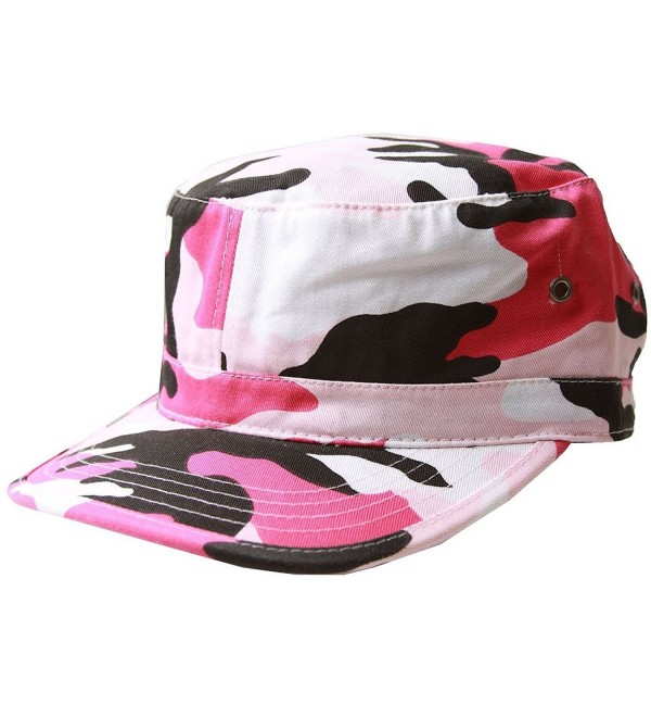 MG Women's Cotton Twill Enzyme Washed Cadet Cap (Pink Camo) One Size - CB11LXG7DNJ