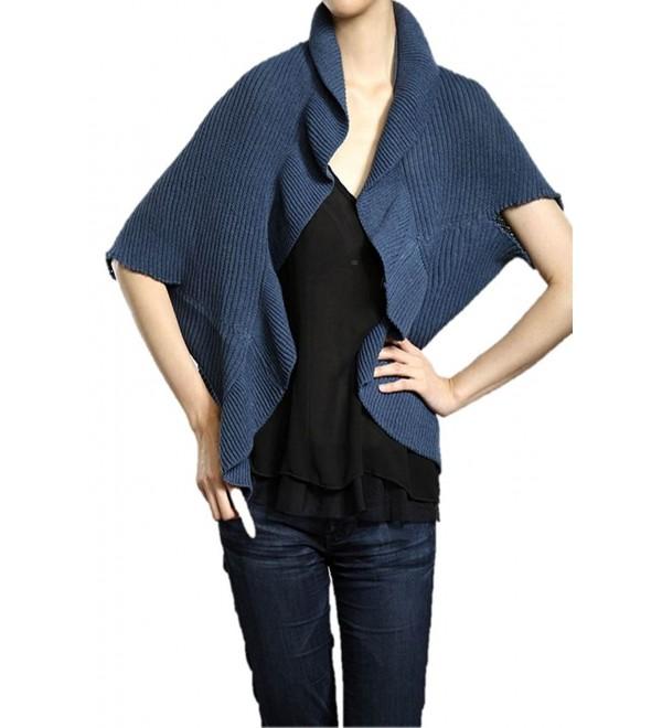 Designer Inspired Scape/Shawl/Wrap - Indigo - C91147D3IMP