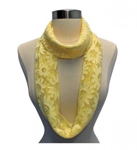 Yellow Sheer Spring Circle Infinity in Fashion Scarves