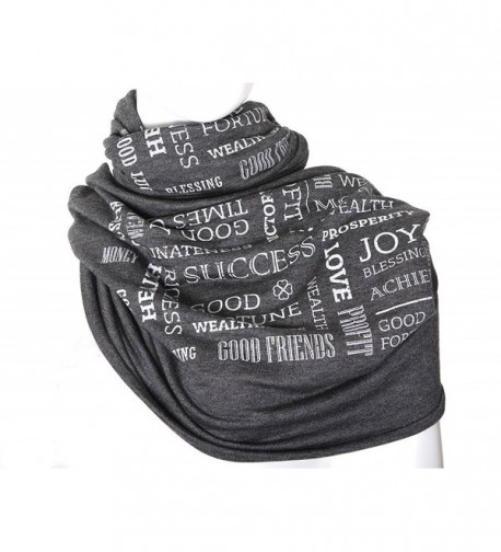 "Book scarf ""Prosperity Scarf"" wellness gift prosperity talisman - charcoal color - CA12OCISOV2"