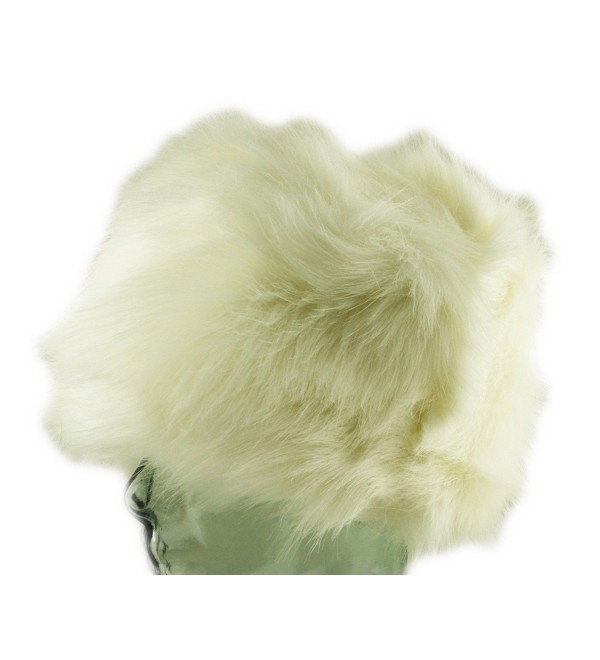 Ladies Womens Luxury Faux Fur Russian Cossack Hat Ski Winter Warm Cosy Lined - Off-White - C8129EBUA1Z