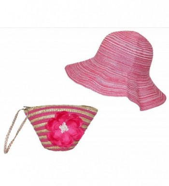 Stow And Go Pink Weaved Sun Hat - C7118BDJBT1