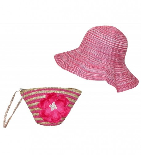 Stow Pink Weaved Sun Hat