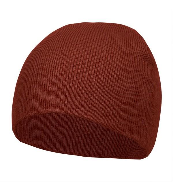 TOP HEADWEAR Short Cuffless Beanies - Maroon - CT112PDERMT