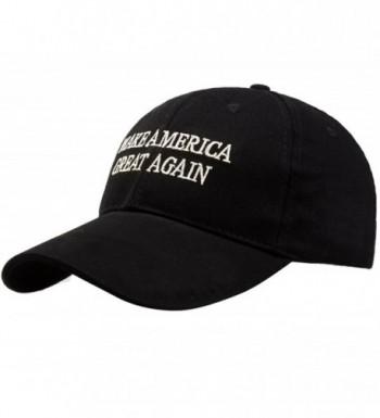 Cutecat Unisex Adult Adjustable Baseball Cap Trump Make America Great Again Hat - Black - CH17YGXKI0T