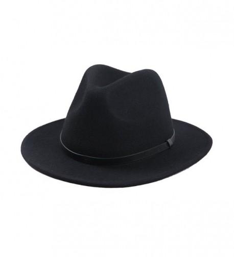 Sedancasesa Crushable Outback Fedora Black in Men's Fedoras