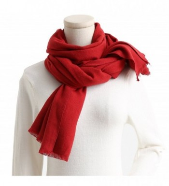 Cashmere Feel Cotton Blend Scarf / Shawl / Wrap Super Soft Large Scarves And Shawls - Red - CM1853GGHDZ